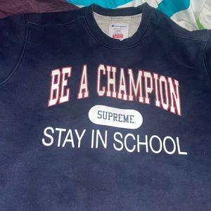 Supreme/Champion collaboration sweater